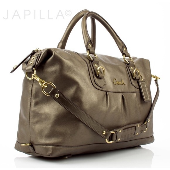 Coach Handbags - COACH F15447 Steel Ashley Sabrina Satchel